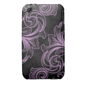 Lavender Victorian Scroll iPhone 3G/3GS Case