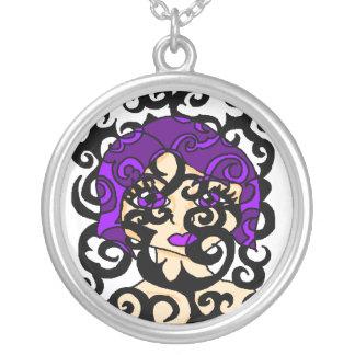 Lavender Vines Necklace