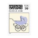 Lavender Vintage Pram Baby Shower Postage Stamp
