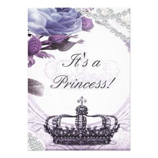 Lavender Vintage Princess Baby Shower Invitation