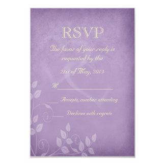 Lavender Vintage RSVP 3.5x5 Paper Invitation Card