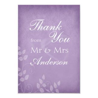 Lavender Vintage Thank You 3.5x5 Paper Invitation Card
