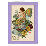 Lavender Vintage Valentine Card