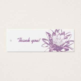 Lavender Water Lily Gift Tags