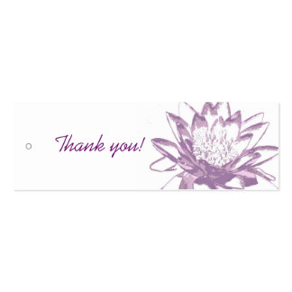 Lavender Water Lily Gift Tags Double-Sided Mini Business Cards (Pack Of 20)