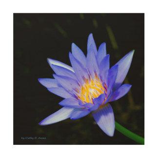 Lavender Water Lily Wood Print