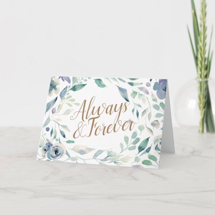 Lavender Watercolor Floral Wedding Congratulations Card Zazzle Com
