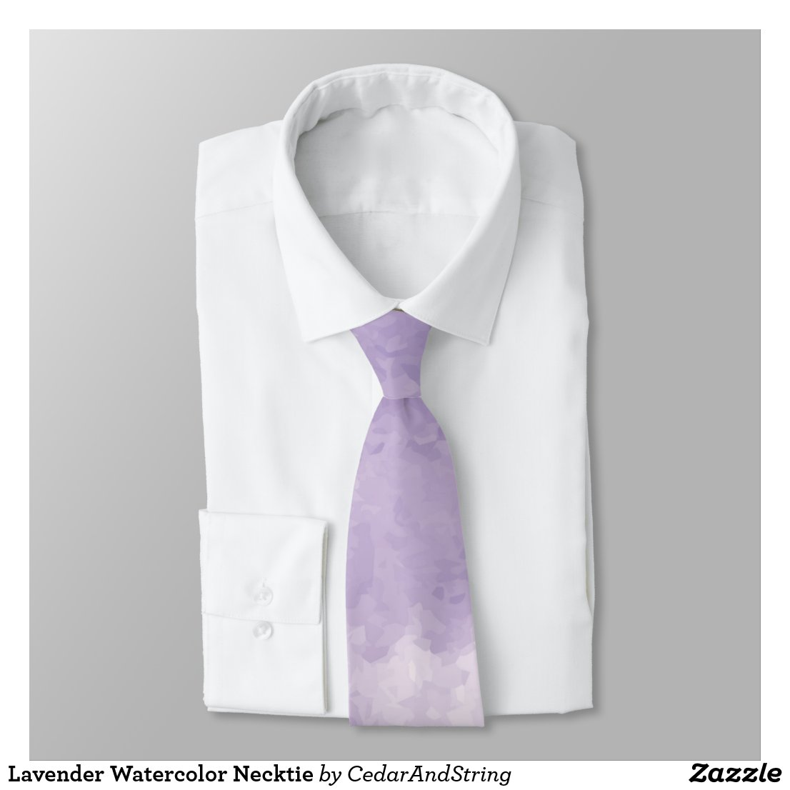 Lavender Watercolor Necktie