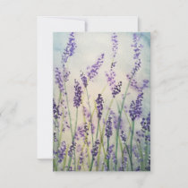 Lavender Watercolor Thank you cards