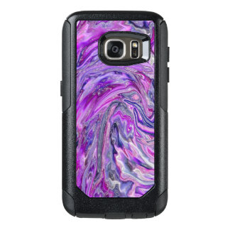 Lavender Wave Abstract Art OtterBox Samsung Galaxy S7 Case