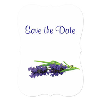 Lavender Wedding Day Theme Save the Date Card