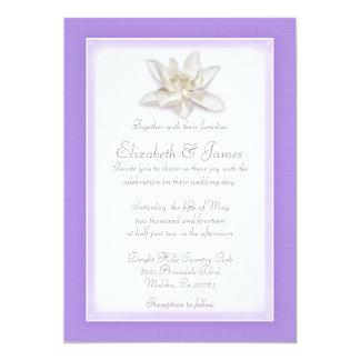 "Lavender Wedding Invitations 5"" X 7"" Invitation Card"