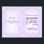 """Lavender Wedding Program Glitter<br><div class=""""desc"""">Lavender glitter shimmer sparkly wedding program. Note: This is a graphic reproduction of artwork and contains no messy glitter.</div>"""