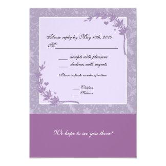 Lavender Wedding RSVP Note Card
