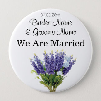 Lavender Wedding Souvenirs Keepsakes Giveaways Pinback Button