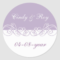 Lavender wedding stickers