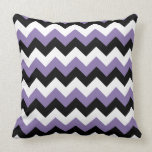 Lavender White Black Zigzag Pillow