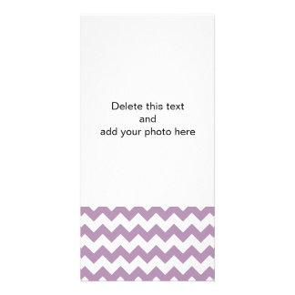 Lavender White Chevron Pattern Card