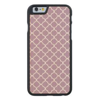 Lavender White Quatrefoil Moroccan Pattern Carved® Maple iPhone 6 Slim Case