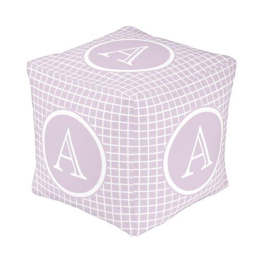 Lavender Amp White Sturdy Spun Polyester Cubed Pouf Zazzle