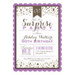 Lavender, White, Taupe Surprise Party Card