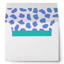 Lavender, White & Teal Zebra & Cheetah Skin Envelope