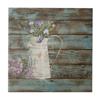 lavender wildflower blue barn wood french country tile