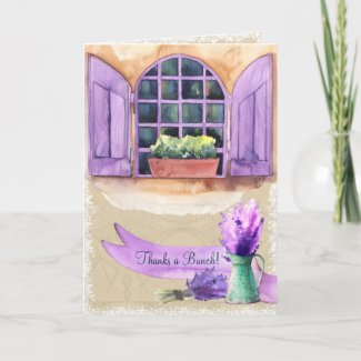 Lavender Window of Provence Thank You Card