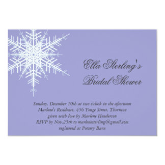 Lavender Winter Snowflake Bridal Shower Invitation