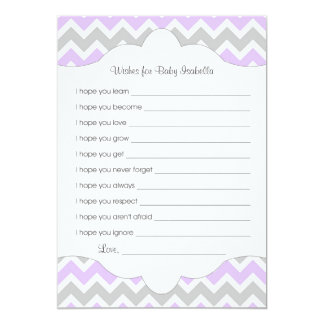 Lavender Wishes for Baby / great baby shower idea 5x7 Paper Invitation Card