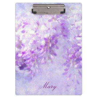 Lavender Wisteria Personalizable Clipboard