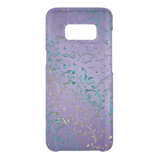 Lavender with Sparkling Music Notes Galaxy S8 Case