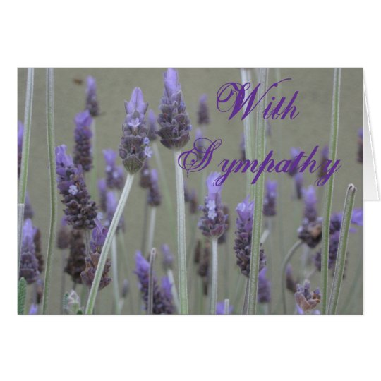 lavender With Sympathy Card