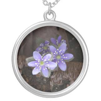 Lavender Woodland Flower Necklace