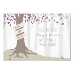 Lavender Woodland Wedding Save The Date 3.5x5 Paper Invitation Card