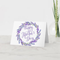 lavender wreath for Mother's Day Card