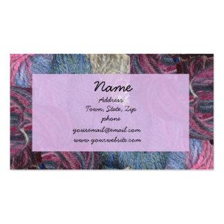 Lavender yarn business cards