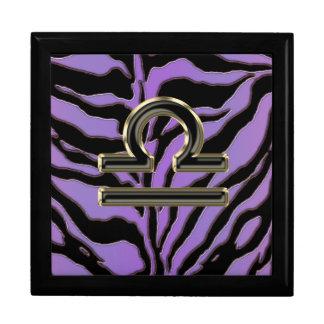 Lavender Zebra Zodiac Sign Libra Gift Box