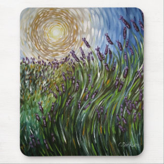 Lavenders in the Sun Art Designs Mouse Pad