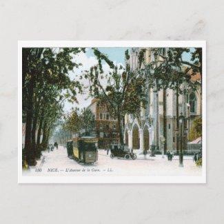 L'Avenue de la Gare, Nice, France Vintage postcard