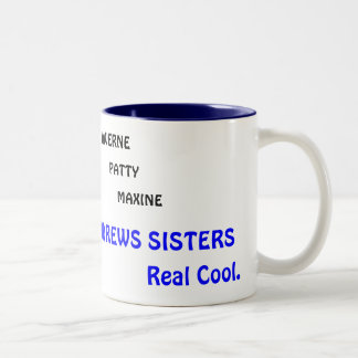 LAVERNE, PATTY, MAXINE, THE ANDREWS SISTERS, No... Two-Tone Coffee Mug