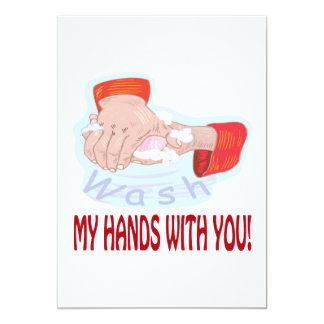 """Lávese las manos con usted invitación 5"""" x 7"""""""