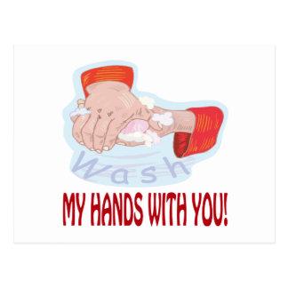 Lávese las manos con usted postales