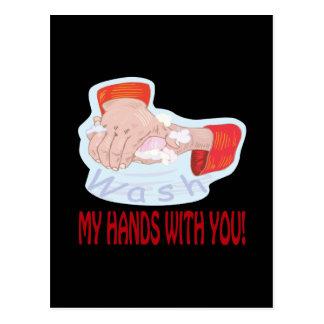 Lávese las manos con usted postal