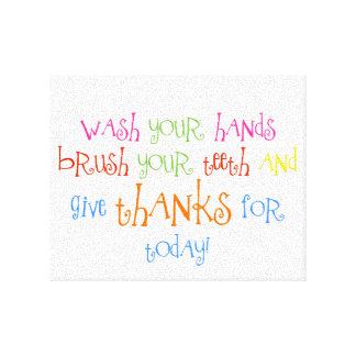 Lávese las manos dan arte de la impresión del cuar lona estirada galerías