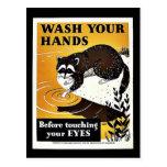 Lávese las manos postales