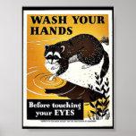 Lávese las manos posters