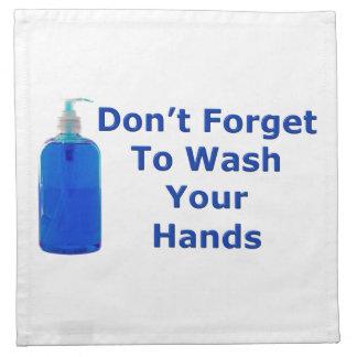 Lávese las manos servilletas de papel