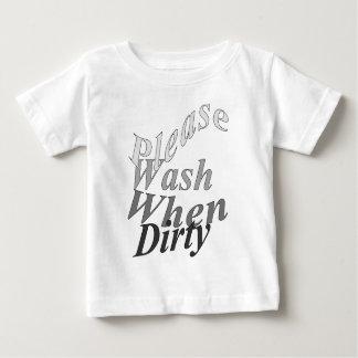 Lávese por favor cuando es sucio remera