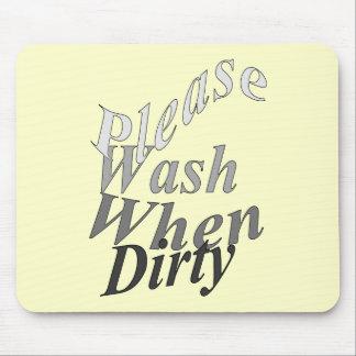 Lávese por favor cuando es sucio tapetes de raton